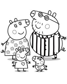 Peppa Pig Colouring Pages For Kids
