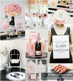 Bridal Shower Theme: Coco Chanel via @bajanwed