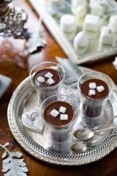 Hot chocolate served as wedding desserts #wedding #diywedding #weddingdessert #desserttable #winter