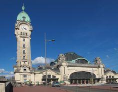Limoges :  France  - Art Nouveau - La Gare  - The Station - Pascale Nallet JURIC- Jean François JURIC - artiste La Rochelle , ile de Ré , ile d' oléron  - french artist - artiste peintre La Rochelle - Artiste Peintre ile de Ré