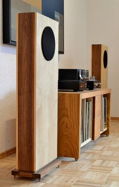 high end audio equipment brands Open Baffle Speakers, Wooden Speakers, Hifi Speakers, Hifi Audio, Diy Hifi, Speaker Box Design, Sound Speaker, Audio Design, Audio Room