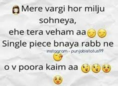😉😉😉😋😋🐒🐒❤ Gurbani Quotes, Song Lyric Quotes, Crazy Quotes, True Love Quotes, Cute Quotes, Lyrics, Funny Quotes, Punjabi Attitude Quotes, Punjabi Love Quotes