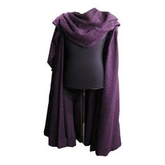 Royal Purple Wool Cape (original www.osfcostumerentals.org ) ❤ liked on Polyvore featuring outerwear, wool cape coats, woolen cape, cape coat, purple cape and wool cape
