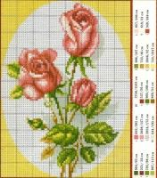 "Gallery.ru / irisha-ira - Альбом ""розы разные"" Cute Cross Stitch, Cross Stitch Rose, Cross Stitch Flowers, Cross Stitch Charts, Cross Stitch Designs, Cross Stitch Patterns, Basic Embroidery Stitches, Cross Stitch Embroidery, Hand Embroidery"