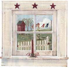 Outhouse Window Prepasted Mural - Wall Sticker Outlet
