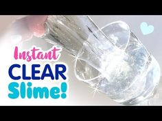HOW TO MAKE INSTANT CLEAR LIQUID SLIME | DIY Contact Lens Solution Glue Slime - Without Borax, - YouTube