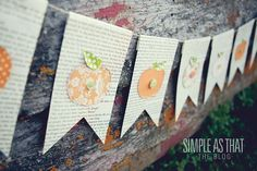 Bookpage Pumpkin Bunting: Simple Fall Decor