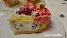 Torta favolosa con ripieno di crema stracciatella