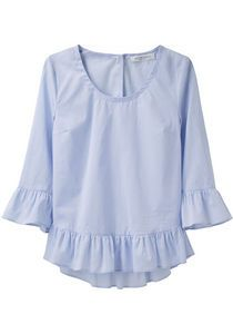 ruffled chambray blouse