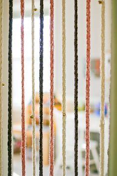 finger strikket dør gardin med bjeller