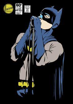 El ilustrador Billy volvió superhéroes a algunos iconos del post-punk
