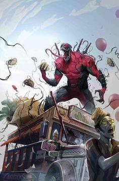 """Edge_of_Venomverse_Vol_1_5 Deadpool está unido al simbionte de Venom, bla, bla, bla"""", te estas diciendo a ti mismo. Bueno, ¡CÁLELO AQUÍ, VERDADERO CREYENTE!   Traerle una historia aterradora de VenomPool tratando de salvar a un hospital lleno de gente inocente que ha sido infectada con un PELIGROSO CONTROL DE MENTE PARASITA es nada menos que el escritor de horror y veterano de SPIDER-VERSE Clay McLeod Chapman!   ¿Aún no es suficiente? ¡BIEN, NO GIRE ESTA PÁGINA DE SOLICITACIÓN, MARVELITE…"""