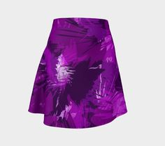 Purple Rain - Flare Skirt - designed & made in Canada. Jump In Trend - clothes for active women.