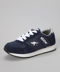 boys Navy Lace-Up Combat Sneaker by KangaROOS  $27