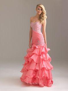 Prom dress mermaid 1 tier