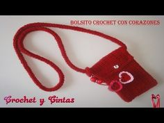 Bolso con corazones crochet (ganchillo) - YouTube