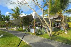 Wedding reception area outside villa (Claudia_Ian, Oct 2012)  Fantastic, Amazing, Outstanding, Spectacular... - Trou aux Biches Resort & Spa - Mauritius