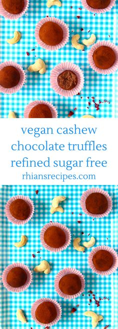 Cashew Chocolate Truffles - undetectably dairy and refined sugar free!