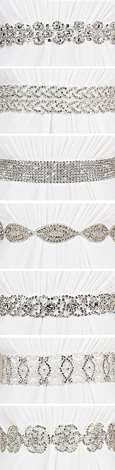 crystal bridal sashes perfect for the bride who loves to sparkle - www.kirstenkuehn.com