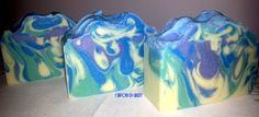 Drop Swirl #11 Savon Soap, Handmade Soaps, Magazine Design, Soap Making, Making Ideas, Cosmetics, Homemade, Purple, Blue