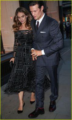 Lily James & Boyfriend Matt Smith Celebrate Her Burberry Black Campaign