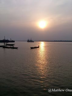 Sunset over the Calabar River. #Calabar #Nigeria