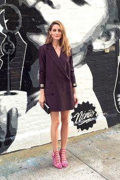 Burgundy + pink heels
