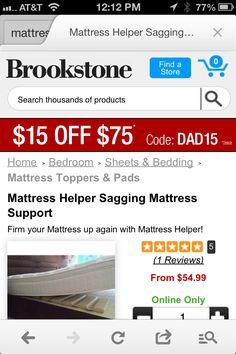 Innovative sagging mattress fix