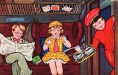 Viagem de trem, ilustração de Margret Boriss.