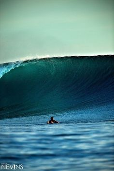 Get out to the big waves