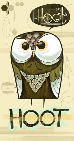 Hoot Hoot by Fantastic Hysteria, owl, illustration Art And Illustration, Illustrations Posters, Graffiti, Owl Always Love You, Owl City, Inspiration Art, You Draw, Art Graphique, Cute Owl