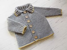 Ravelry: Baby/toddlers seamless top down Fisherman's Rib Jacket P058 pattern by OGE Knitwear Designs
