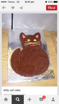 chocolate pussy cat cake