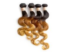 DE Local 18  Ombre Human Hair Extension 1b/33/27 Body wave Human Hair Weft 100g