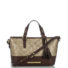 Mini Asher Tote - Brown Basket Weave