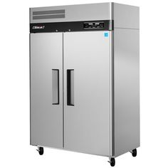 """$4352 The Turbo Air JRF-45 50"""" J Series two section dual temperature reach in refrigerator and freezer combination is ideal for businesses with limited space, boasting a 16.4 cu. ft freezer compartment on the left side, and a 22.8 cu. ft. refrigerated compartment on the right, all in the same footprint."""