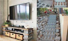 10 FANTÁSTICOS proyectos que puedes hacer con bloques de cemento sin invertir mucho dinero