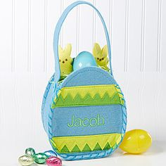 Easter Egg Mini Treat Bag - Blue