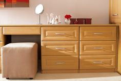 Finish off the Madrid bedroom design with our gorgeous bedroom dressing table and choice of stools.