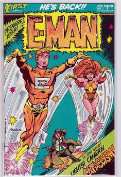E-Man Comics #1 1983 Script by Martin Pasko & art by Joe Staton.