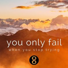 You only fail when you stop trying.  #motiv8tionmonday #innov8tivenutrition