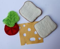 needle felted and felt sandwich by Laura Lee Burch