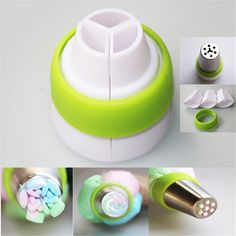 This three color piping converter will transform your icing into a work of art. You can fill three piping bags with different colors and produce a multi-color