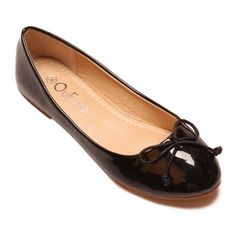 Simple Style Patent Leather and Bowknot Design Women's Flat Shoes, BLACK, 39 in Flats | DressLily.com