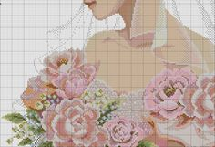 This Pin was discovered by ინ_ Wedding Cross Stitch Patterns, Easy Cross Stitch Patterns, Cross Stitch Family, Simple Cross Stitch, Cross Stitching, Cross Stitch Embroidery, Cross Stitch Angels, Cross Stitch Collection, Flower Making