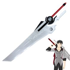 RWBY Qrow Branwen Scythe Weapon Halloween Cosplay Prop PVC Collection Accessory