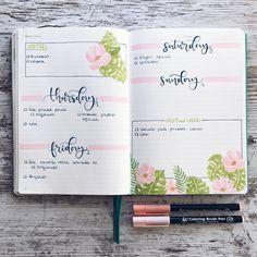 """1,857 Likes, 20 Comments - Bullet Journal & Studygram (@mylittlejournalblog) on Instagram: """"Junio   combinando las hojas tropicales del principio de mayo con las flores de las últimas dos…"""""""