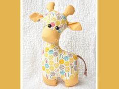 Gerald the Giraffe sewing pattern.You're going to love Gerald the Giraffe Sewing Pattern by designer SweetbriarSisters.Gerald the Giraffe sewing pattern.How to Make a Stuffed Animal - S Sewing Stuffed Animals, Stuffed Toys Patterns, Stuffed Giraffe, Animal Sewing Patterns, Sewing Patterns Free, Pattern Sewing, Knitting Patterns, Sewing Toys, Sewing Crafts
