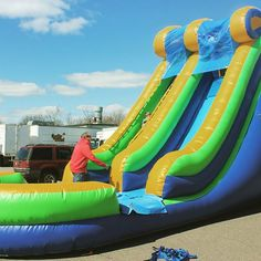 Water slides make any summer event a hit, Stay cool & entertain all ages even the adults!!!! l