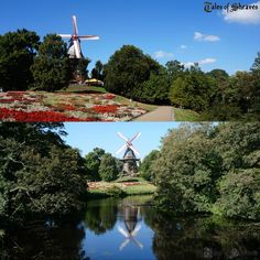 Beautiful scenery by the river and windmill, Bremen, Germany #sheavesingermany
